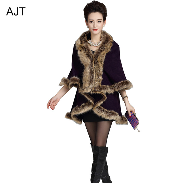 Aliexpress.com : Buy Autumn and winter fashion knitted vintage open stitching faux fur neck shawl from Reliable fashion scarves and shawls suppliers on AJT Hi-technology electronics store | Alibaba Group