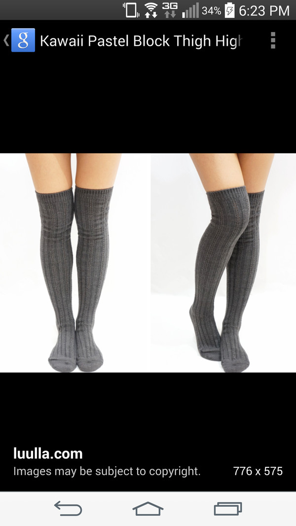 socks knee high socks grey