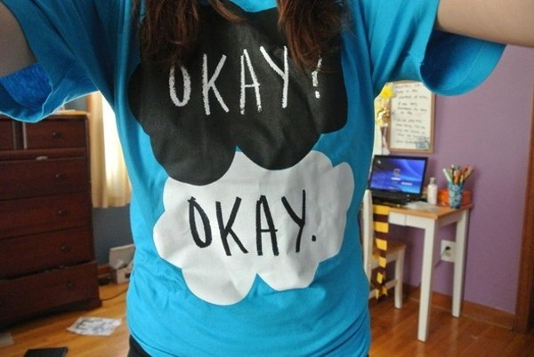 t-shirt john green love him love book book blog tumblr the fault in our stars