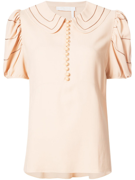 Chloe blouse women nude top
