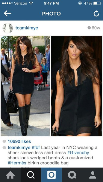 kim kardashian little black dress