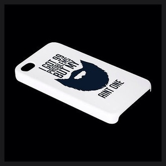 phone cover beard trendy cool fashion mobile case mobile accessories beards white moustache facial guys plastic iphone 4 case iphone case