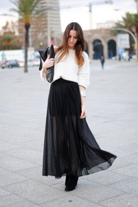skirt transparent transparent shirt black skirt black