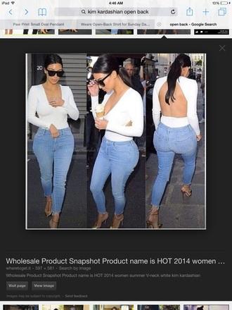 shirt kim kardashian open back coat sunglasses