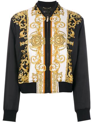 jacket bomber jacket women black silk
