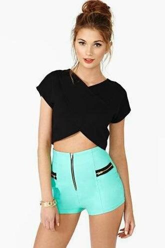 shorts mint mint green shorts zipper pockets zip pockets high waisted short shorts cute summer outfits summer pants