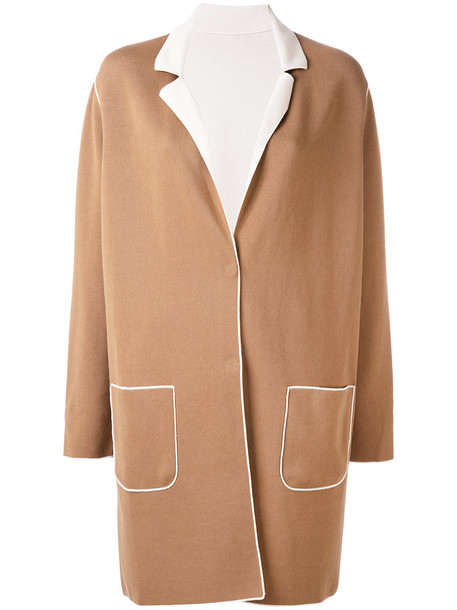 coat women cotton brown