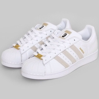shoes gold white adidas superstar adidas superstars pale white shoes adidas shoes