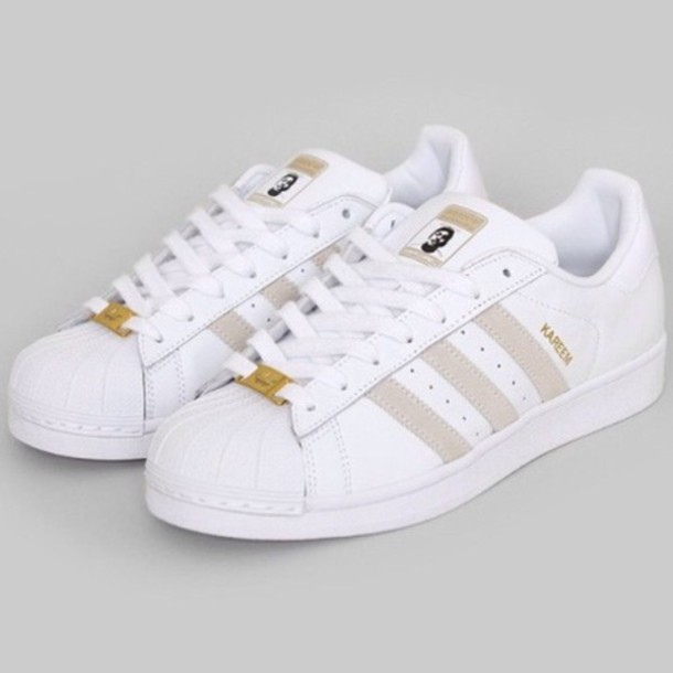 Adidas Shoes White And Gold