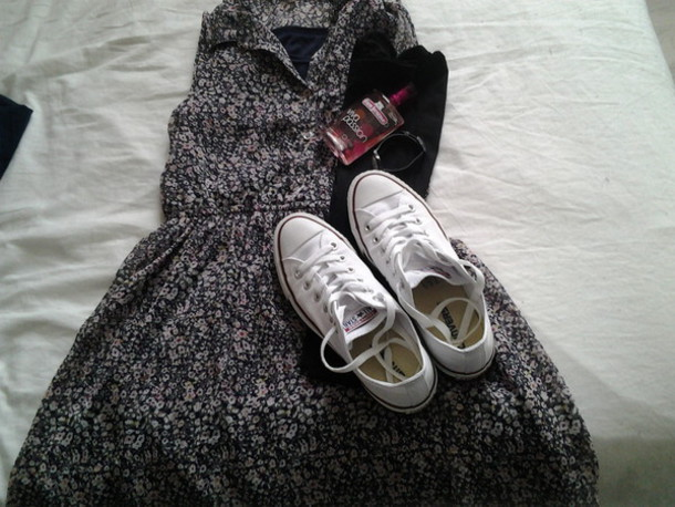 dress converses blanches