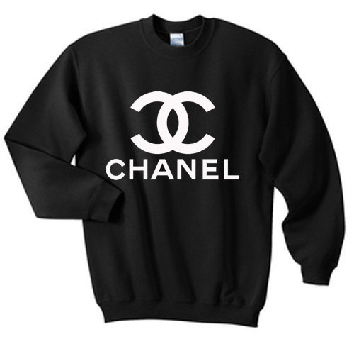 chanel sweatshirt crewneck in black for adults by matchingpalace. Black Bedroom Furniture Sets. Home Design Ideas