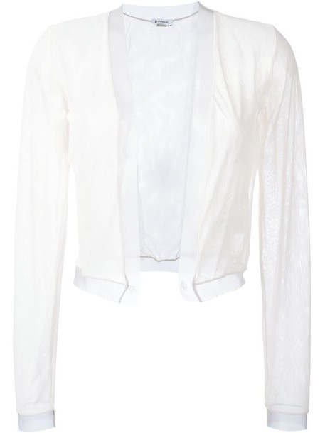 Dondup sheer cardigan in neutrals - Wheretoget