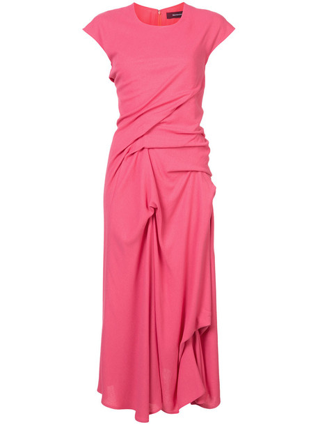 dress women wool purple pink