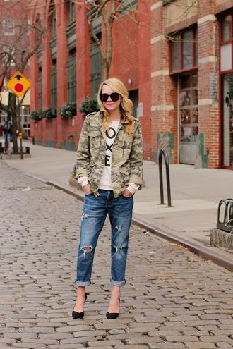 atlantic pacific sweater jeans shoes jacket sunglasses