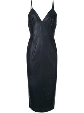 dress women leather black