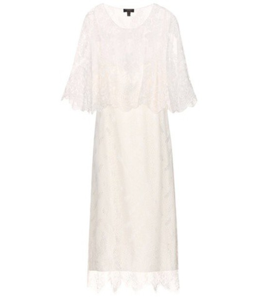 Burberry Silk And Lace Dress in white