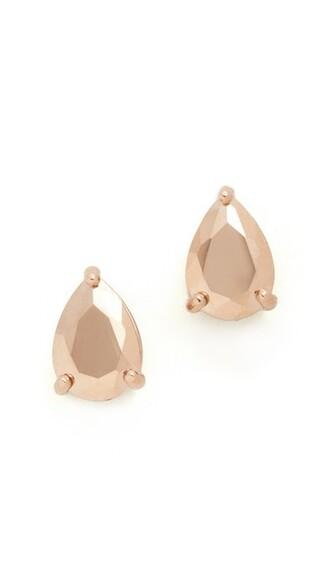 rose gold rose earrings stud earrings gold jewels