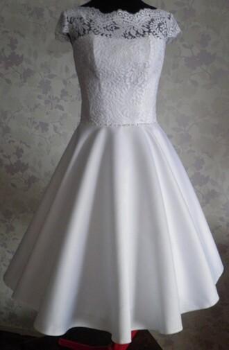 dress knee-length dress homecoming dress vintage dress cap sleeve dress