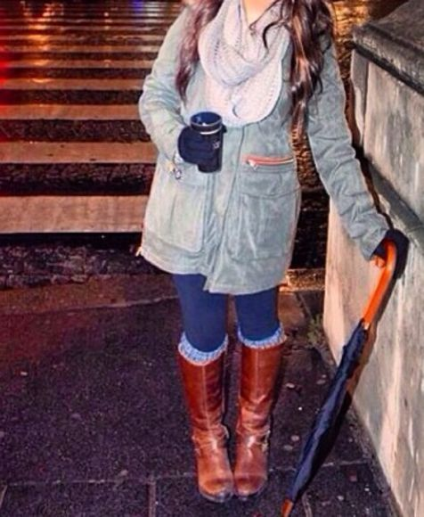 brown grey cute jacket winter outfits boots winter coat winter jacket paris preppy