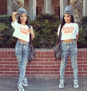 jeans,reesmalls,pants,hat,shoes,shirt,bag,nike,itsgoodtobetheking,beanie,grey beanie,king,crop tops,t-shirt,white