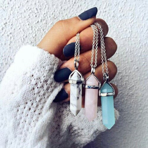 jewels necklace crystal quartz jewelry quartz boho boho chic boho jewelry bohemian gemstone pendant
