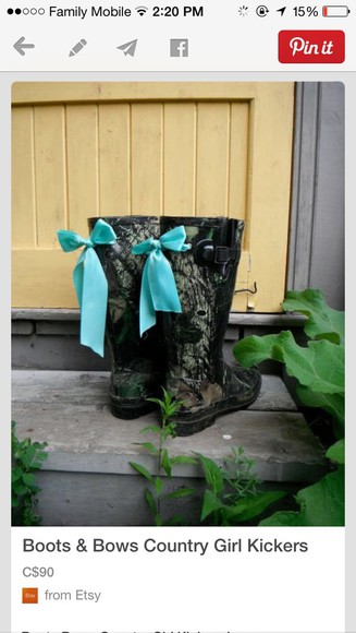 shoes wellies camouflage