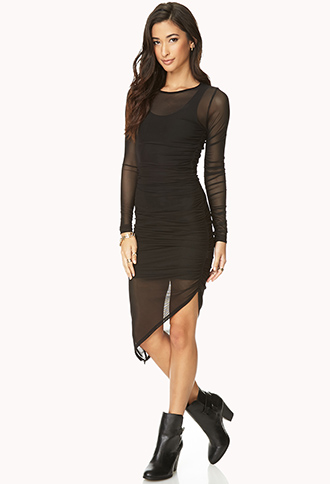 See It Through Mesh Dress | FOREVER21 - 2000070203