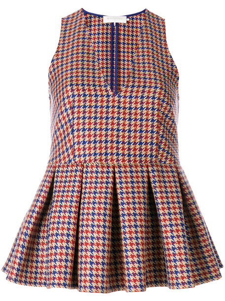 L'Autre Chose top women wool houndstooth