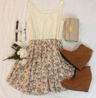 skirt flowers summer girl