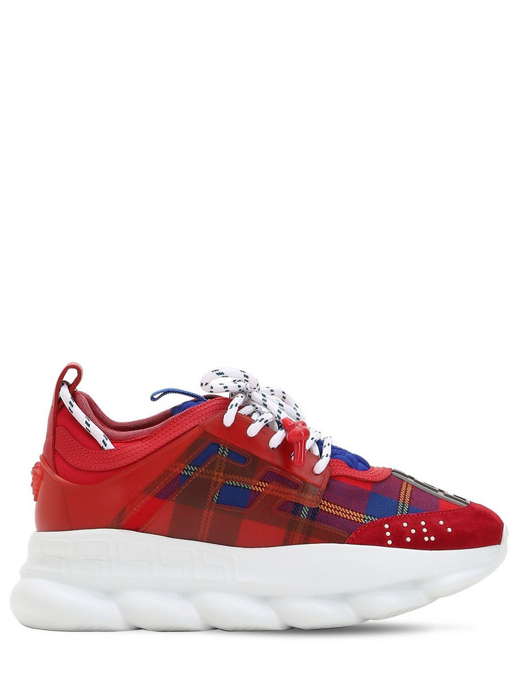VERSACE Lvr Edition Chain Reaction Sneakers in red