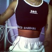 top,bra,sports bra,dolce and gabbana,tattoo