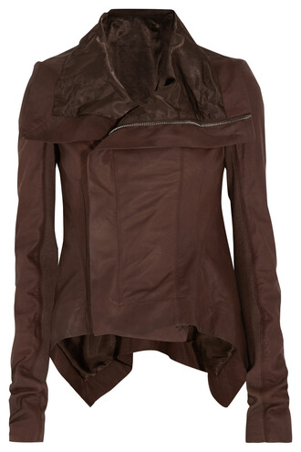jacket biker jacket chocolate