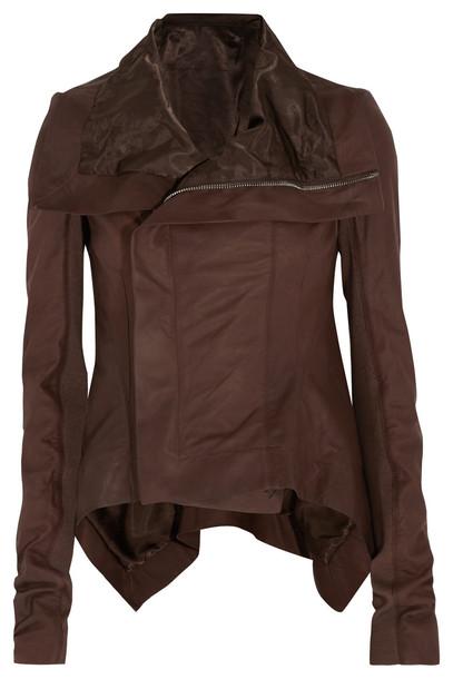 jacket biker jacket chocolate