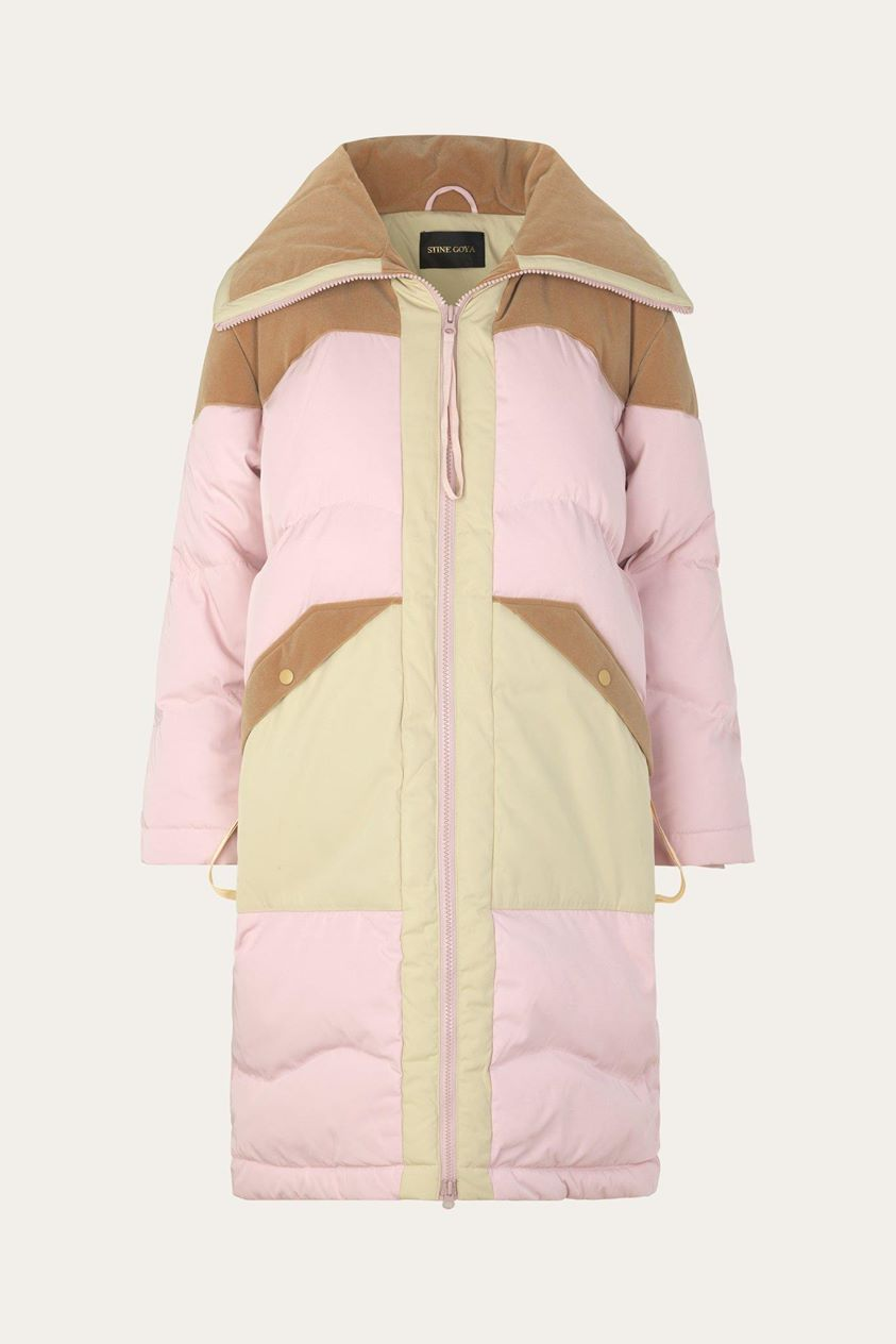Madia Down Jacket - Pink & Beige - Stine Goya