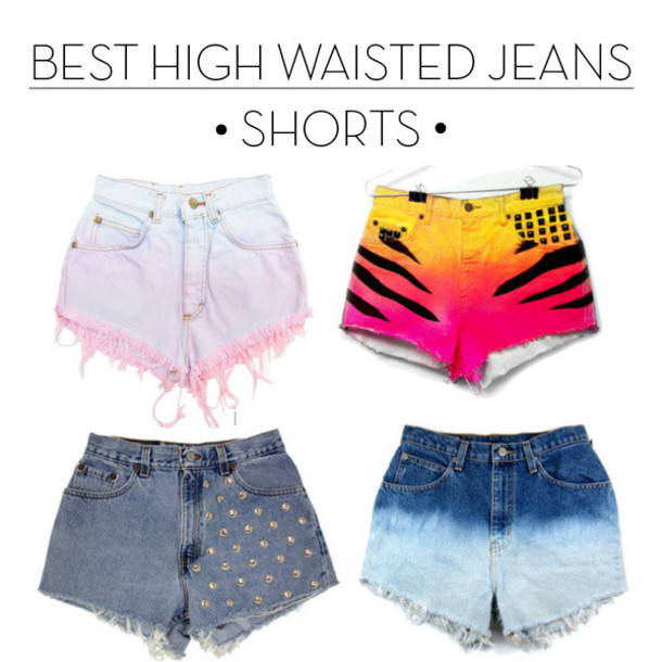 high waisted shorts designs - photo #15