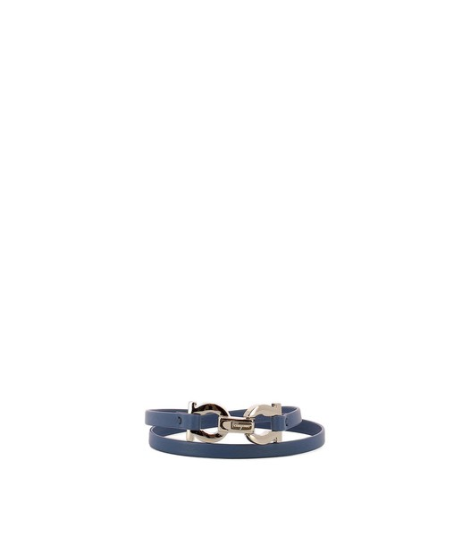 Salvatore Ferragamo leather blue jewels