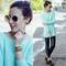 Tone riveted mint jumper, the latest street fashion