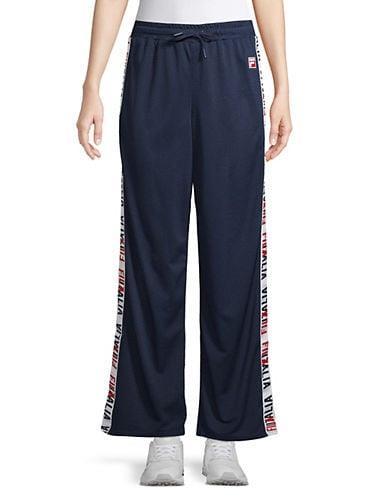 Fila Women's Adora Wide-Leg Pants - Peacoat/White/Chinese Red - Size S