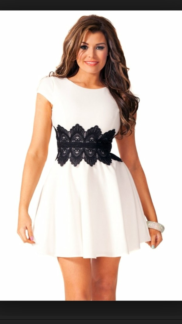 dress celebrity style skater dress white dress