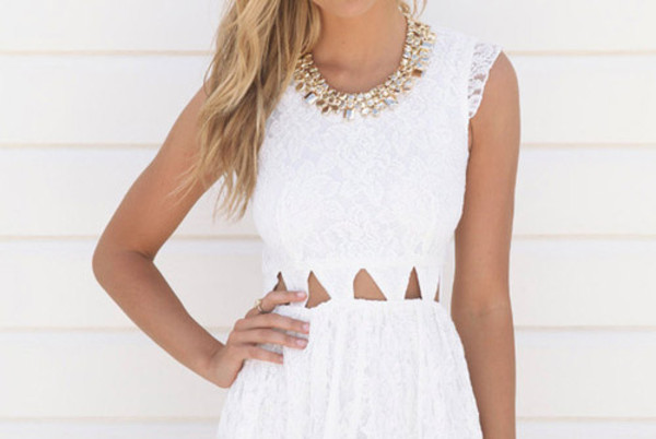 dress lace cut-out
