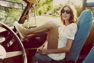 shoes superga gold paillettes dress alexa chung lace dress white lace dress white dress alexa chung dress sneakers nude sneakers summer dress summer outfits short dress sunglasses black sunglasses celebrity