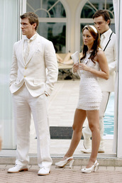 dress,gossip girl,clothes,white dresss,fashion dress,formal,leighton meester,white dress