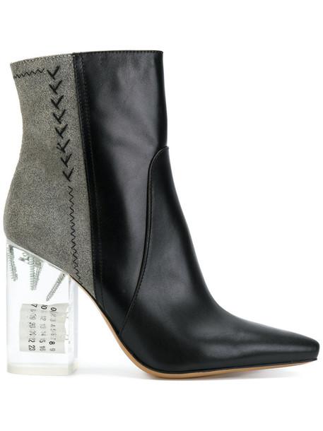 MAISON MARGIELA heel women leather black shoes