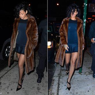 dress rihanna peplum peplum dress shoes pumps mesh tights underwear