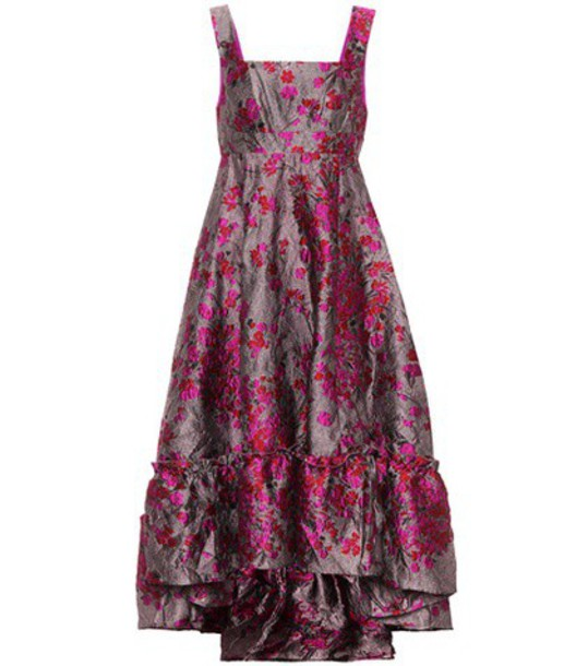 CO dress metallic jacquard purple