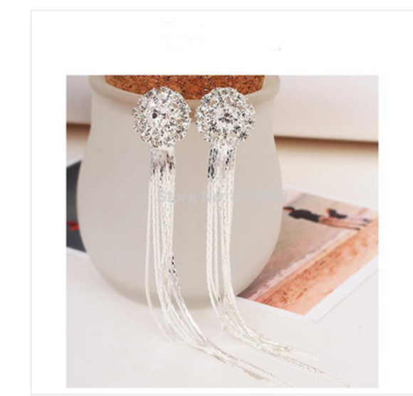 jeweled earrings wedding dress