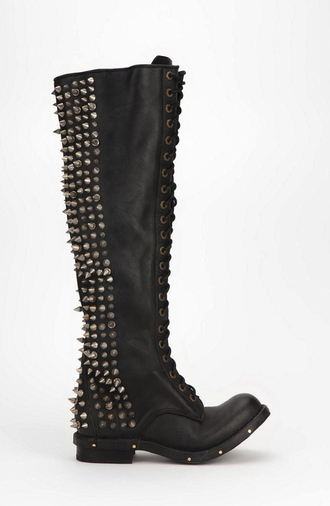 shoes spiked shoes black spike leather