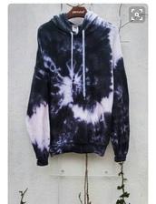 jacket,tie dye,hoodie,spring,blue,navy,white