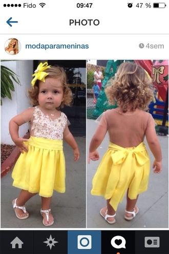 dress baby yellow baby circle skirt kids fashion