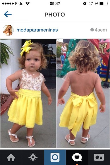dress circle skirt baby yellow baby